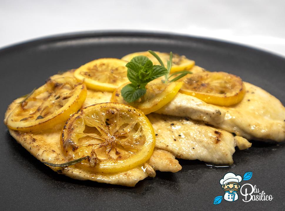 petto di pollo con erbette e limone
