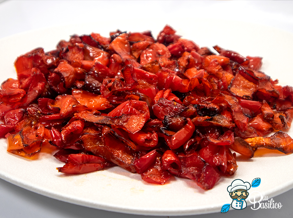 Paparul a pacchett - Ricetta tipica Sannita - (Peperoni a listarella)